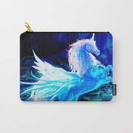 Unicorn Forest Stars Cristal Blue Carry-All Pouch
