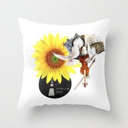 93 MILLION MILES (Totem of the Dove) Throw Pillow