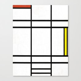 Piet Mondrian - Composition in White, Red, and Yellow Canvas Print
