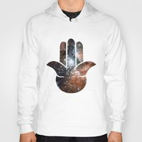 milky way Hoodies featuring Hamsa Milky Way by mailboxdisco