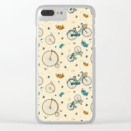 Vintage Ride Clear iPhone Case