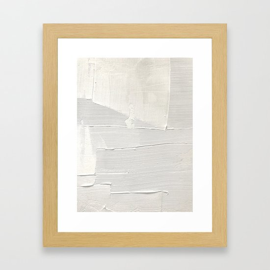 Relief [1]: an abstract, textured piece in white by Alyssa Hamilton Art by blushingbrushstudio