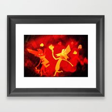 Chasing It Framed Art Print