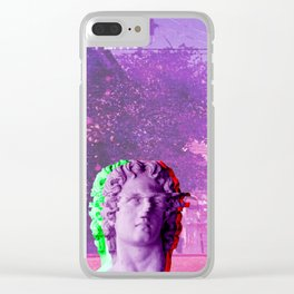 Retro Aesthetic Streetwear Gift Vaporwave Welcome to paradise Clear iPhone Case
