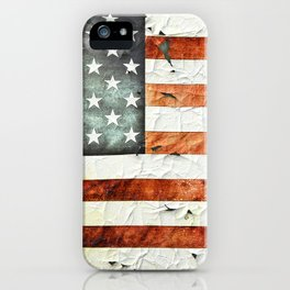 Painted Stars And Stripes iPhone Case