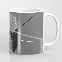 Marble Exagons and Gold Coffee Mug