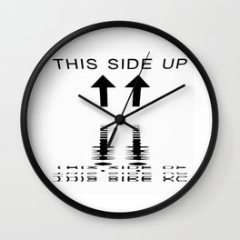 Please turn me if needed! Wall Clock