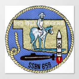 USS WILL ROGERS (SSBN-659) PATCH Canvas Print