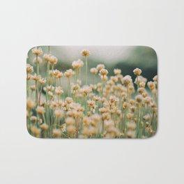 Vintage Chamomile Wildflowers Bath Mat