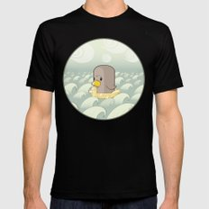 Chick Across the Sea Black Mens Fitted Tee MEDIUM