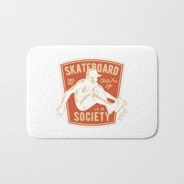 Skateboard Society Bath Mat