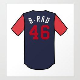 Brad Brach Players' Weekend Jersey Art Print