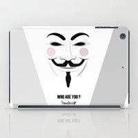 anonymous iPad Cases featuring Anonymous by Nena Loca