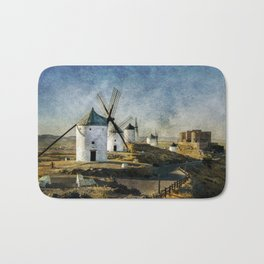 Windmills of Castilla la Mancha Bath Mat