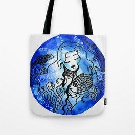 aquatique girl watercolor Tote Bag