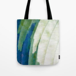 Colors of Nature - Hosta Leaf in Garden - Pattern Photography - Botanic Wall Art Tote Bag