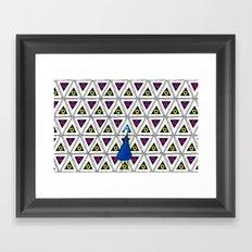 Peacock in pattern Framed Art Print