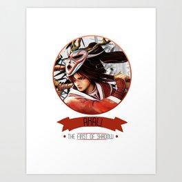 League Of Legends - Akali Art Print