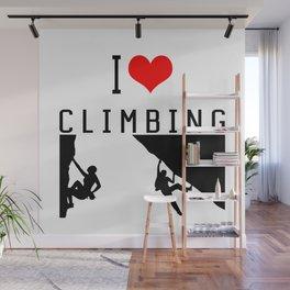 I Love Climbing - Sport Climb Climbing Climber Boulder Wall Mural