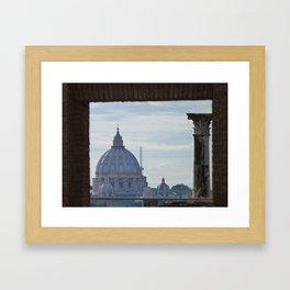 Saint Peter's Basilica framed by Domus Augustea Framed Art Print