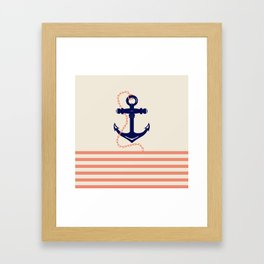 AFE Navy Anchor and Chain Framed Art Print