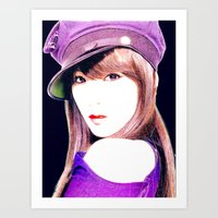 snsd Art Prints featuring Tiffany SNSD Girls' Generation Design by Timeless-Id