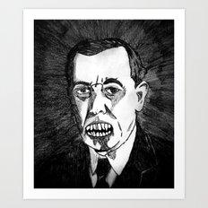 28. Zombie Woodrow Wilson  Art Print