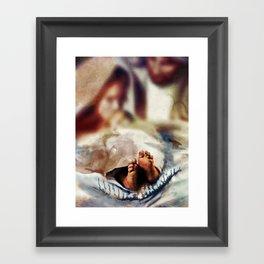 The Nativity in depth of field Framed Art Print