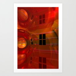 the crooked red room Art Print
