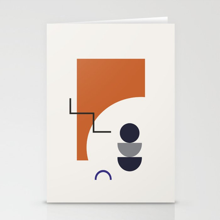 Abstract Shapes - Autumn Stationery Cards