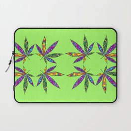 Patchwork Pot Leaves Laptop Sleeve
