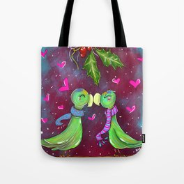 Xmas Lovebirds Tote Bag