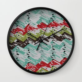 3D X Chevron Wall Clock