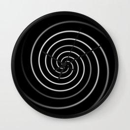 Licorice Swirl Wall Clock