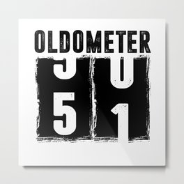 Oldometer 51 51th Birthday Metal Print