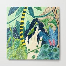 Jungle Praying Mantis Metal Print