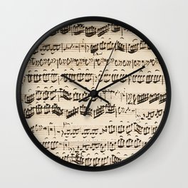 Johann Sebastian Bach (1685 – 1750) original music sheet Wall Clock