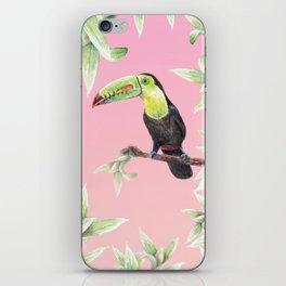 Watercolor Jungle Toucan Bird Illustration iPhone Skin