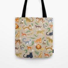 Exotic Cats Tote Bag