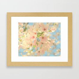 Yoshino Cherry Blossoms Framed Art Print