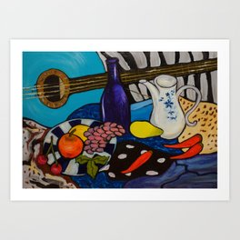 Music sound artwork Art Print
