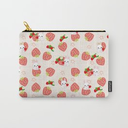 Bunnies and Strawberries Carry-All Pouch