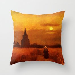 Vincent Van Gogh The Old Tower In The Fields Throw Pillow