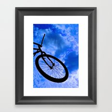 Sky Bike Framed Art Print