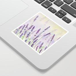 Lavender Flowers Watercolor Sticker