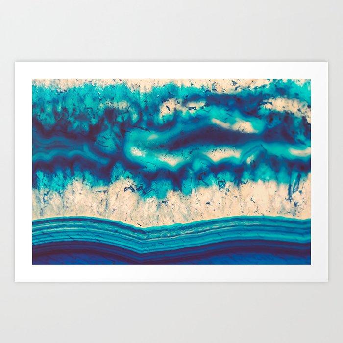 Blue Agate Water Element Art Print