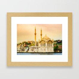Ortakoy Mosque Framed Art Print