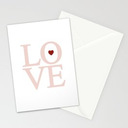 Heart Shaped Blush Love Stationery Cards