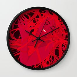 01 - RED GIRL Wall Clock