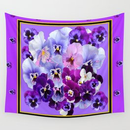 PANTENE PURPLE PANSY GARDEN   DECORATIVE ART DESIGN Wall Tapestry